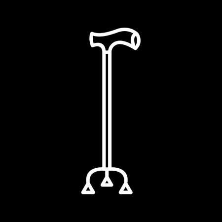 Unique Walking Stick Line Vector Icon