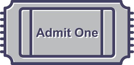 Unique Movie Ticket Line Vector Icon 向量圖像
