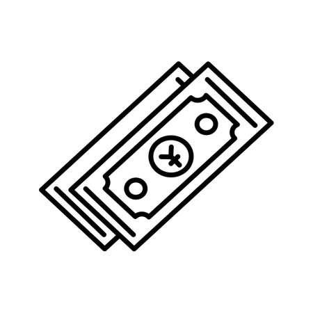 Unique Yen Currency Line Vector Icon