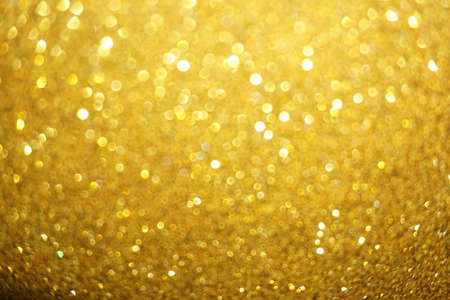 Golden glitter defocused lights Christmas background