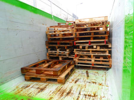 Pallet Recycling Stock Photo