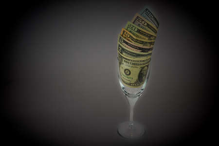 Dollars, US Currency 免版税图像