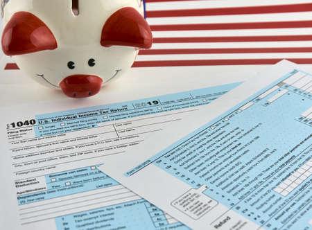 The 1040 Individual Tax Form Zdjęcie Seryjne