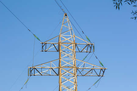 megawatt: High voltage line tower