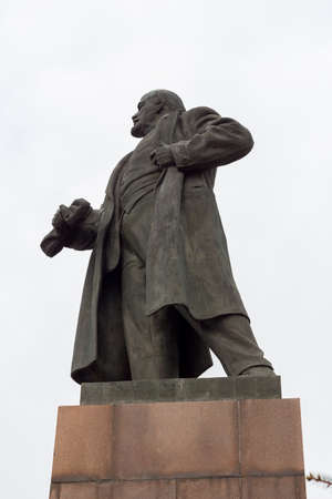 totalitarianism: the monument to lenin Stock Photo