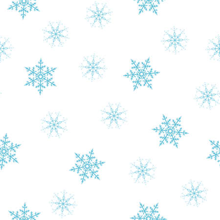 seamless pattern of snowflakes on a white background. For posters, postcards, greeting for Christmas, new year. Vector illustration.