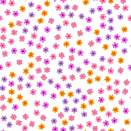 Abstract floral background. For prints, greeting cards, invitations, wedding, birthday, party, Valentines day Seamless pattern Vector illustration