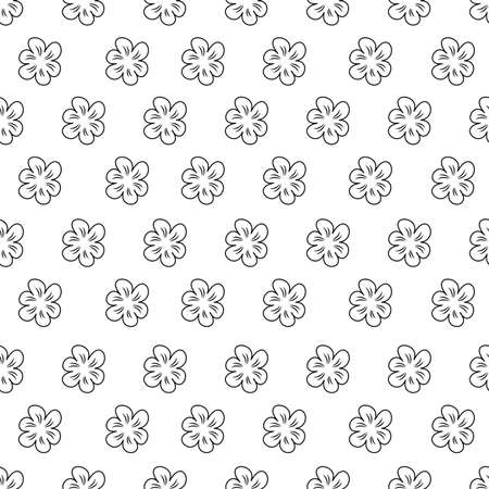Abstract floral pattern on white illustration.