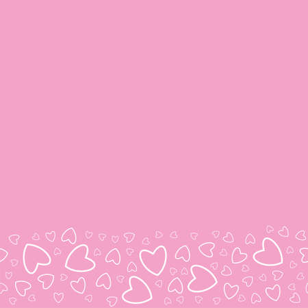 Frame of hearts on a pink template illustration.
