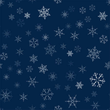 Christmas card with pattern of snowflakes abstract in dark blue illustration. Ilustrace
