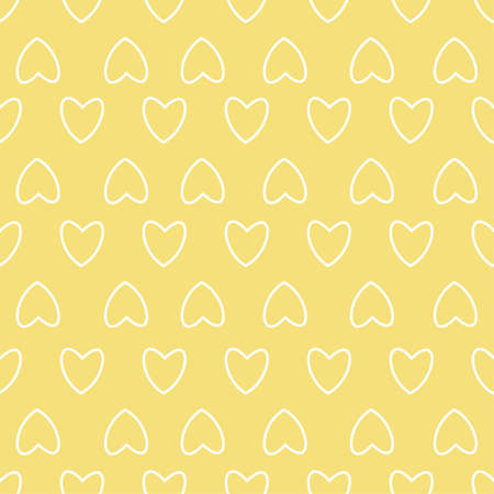 Frame with hearts on yellow pattern design. Illustration