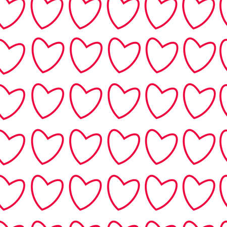 Frame with hearts on white pattern design. Ilustracja