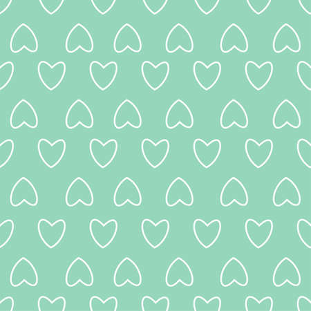 Abstract hearts in green pattern.
