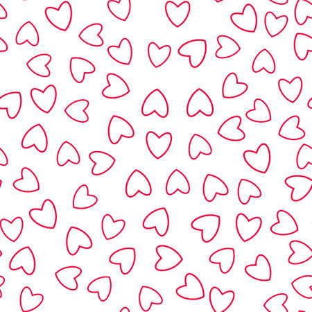 Heart seamless pattern. For prints, greeting cards, invitations for holiday, birthday, wedding, Valentines day, party Vector illustration