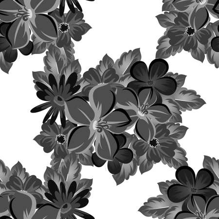 abstract background of flowers  seamless pattern  Vector illustration. Vettoriali