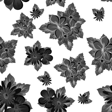abstract background of flowers. seamless pattern for card designs, greeting cards, birthday invitations, Valentines day, party, holiday. Vector illustration.
