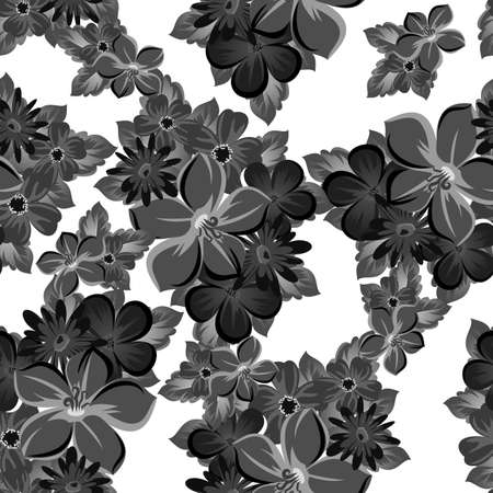 Abstract background of flowers. Seamless pattern for your designs Ilustrace