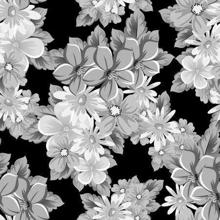 Abstract pattern of flowers. Vector illustration.
