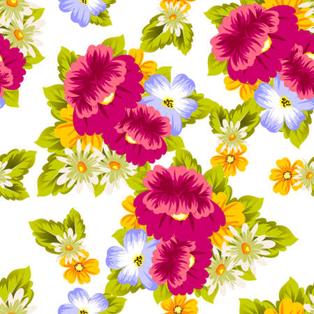 Abstract seamless pattern of flowers. for card designs, greeting cards, birthday invitations, Valentines day, party, holiday vector illustration.