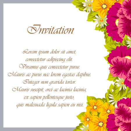Frame of flowers for your designs. Vector illustration