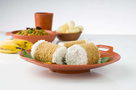 Kerala breakfast_Wheat puttu,healthy steamed food which is the main breakfast item of south indian made using wheat flour.