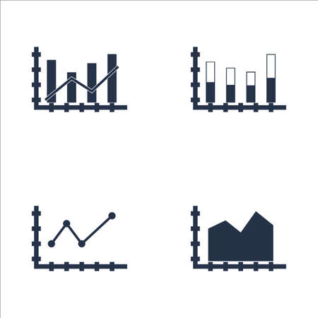 dynamic trend: Set Of Graphs, Diagrams And Statistics Icons. Premium Quality Symbol Collection. Icons Can Be Used For Web, App And UI Design. Vector Illustration.