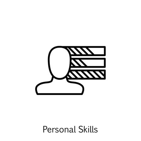 personality development: Vector Illustration Of Project Management Icon On Personality, Skills And Initiative In Trendy Flat Style. Project Management Isolated Icon For Web, Mobile And Infographics Design.