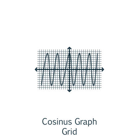 cosinus: Vector Illustration Of Statistics Icon On Cosinus Chart In Trendy Flat Style. Statistics Isolated Icon For Web, Mobile And Infographics Design.
