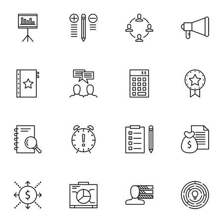 more money: Set Of Project Management Icons On Teamwork, Task List, Money Revenue And More.