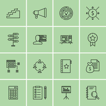personality development: Set Of Project Management Icons On Decision Making, Award, Workspace And More.