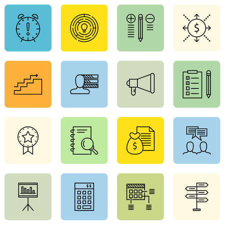 project deadline: Set Of Project Management Icons On Deadline, Charts, Award And More.