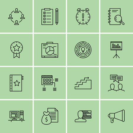 project deadline: Set Of Project Management Icons On Money Revenue, Deadline, Graph And More. Illustration