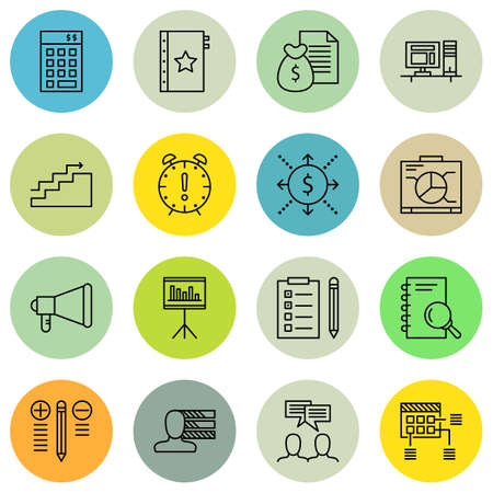 revenue: Set Of Project Management Icons On Money Revenue, Graph, Planning And More. Illustration
