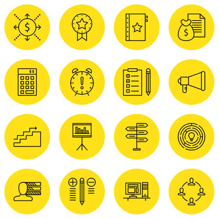 project deadline: Set Of Project Management Icons On Deadline, Money Revenue, Personality And More.