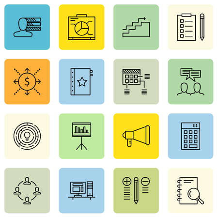personality development: Set Of Project Management Icons On Creativity, Investment, Cash Flow And More. Illustration