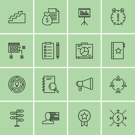 task list: Set Of Project Management Icons On Award, Decision Making, Task List And More. Illustration