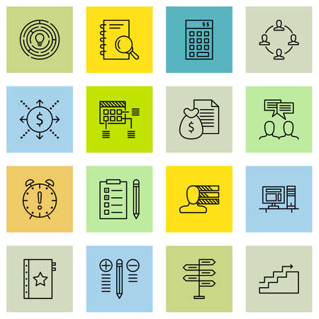 project deadline: Set Of Project Management Icons On Money Revenue, Investment, Deadline And More. Illustration