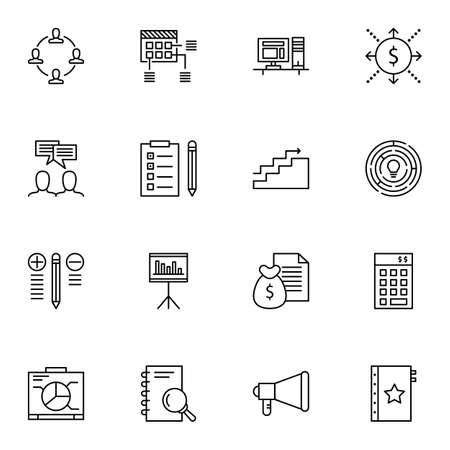 more money: Set Of Project Management Icons On Money Revenue, Planning, Task List And More.