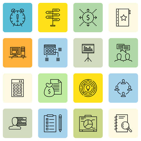 revenue: Set Of Project Management Icons On Research, Graph, Money Revenue And More. Illustration