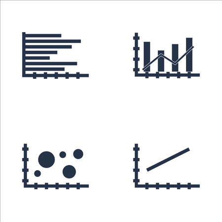 dynamic trend: Set Of Graphs, Diagrams And Statistics Icons. Premium Quality Symbol Collection. Icons Can Be Used For Web, App And UI Design. Illustration