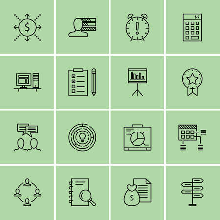 project deadline: Set Of Project Management Icons On Deadline, Research, Cash Flow And More.