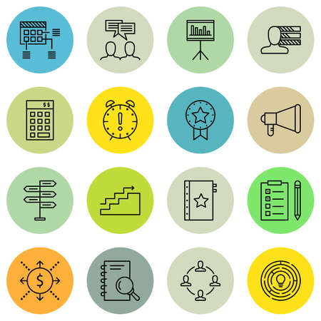 personality: Set Of Project Management Icons On Task List, Statistics, Personality And More.