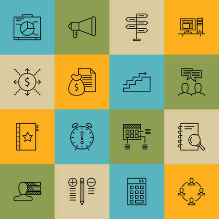 work space: Set Of Project Management Icons On Teamwork, Work space, Quality Management And More.