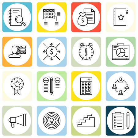 task list: Set Of Project Management Icons On Personality, Task List, Charts And More.
