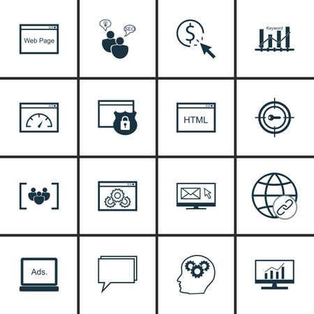 keyword: Set Of SEO, Marketing And Advertising Icons On Keyword Ranking, Creativity, HTML Code And More.