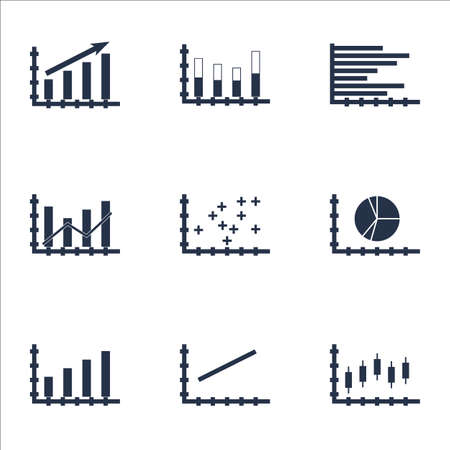 dynamic growth: Set Of Graphs, Diagrams And Statistics Icons. Premium Quality Symbol Collection. Icons Can Be Used For Web, App And UI Design. Illustration