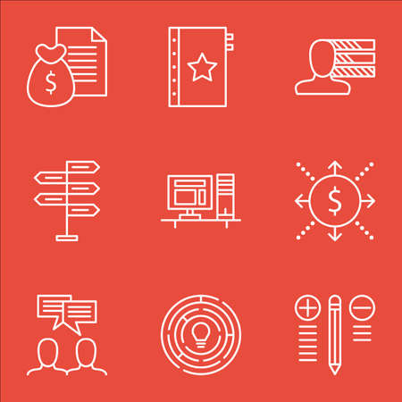 personality development: Set Of Project Management Icons On Best Solution, Decision Making, Personality And More.