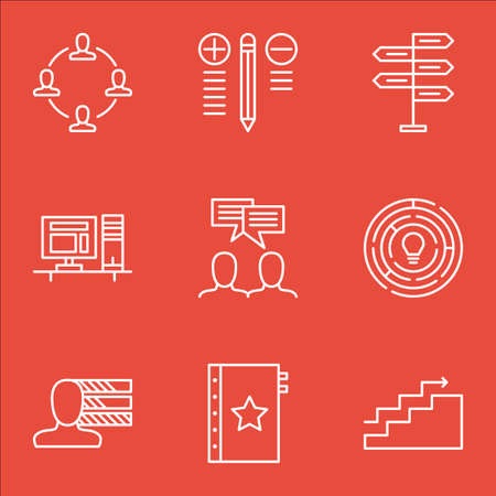 personality: Set Of Project Management Icons On Personality, Creativity, Charts And More.