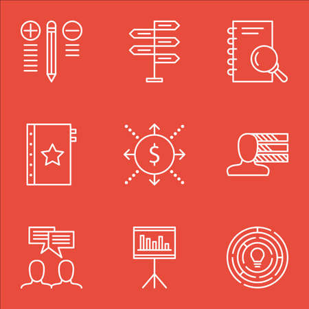 personality: Set Of Project Management Icons On Quality Management, Creativity, Personality And More. Illustration