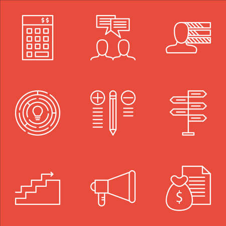 personality: Set Of Project Management Icons On Personality, Investment, Money Revenue And More.